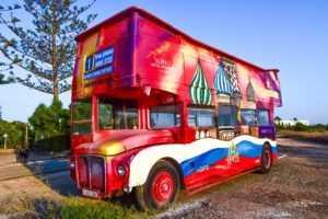 bus, double-decker bus, colorful