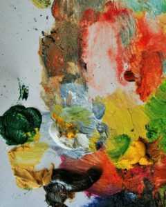 painting, paint, palette