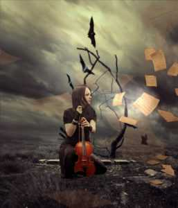 violinist, fantasy, inspiration